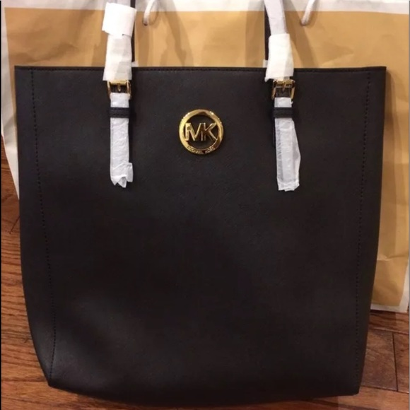 a732251431ce Michael Kors Jet Set Travel L Tote Black Saffiano